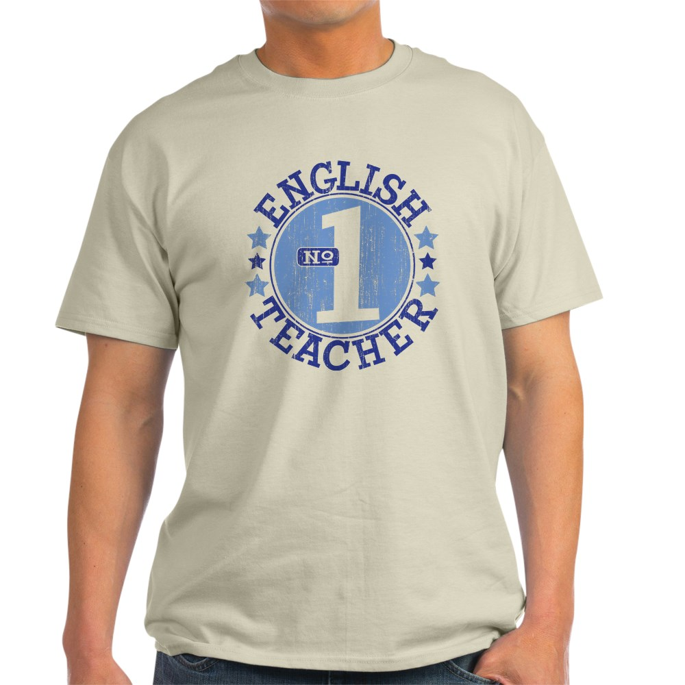 CafePress #1 ENGLISH TEACHER (Blue) T-Shirt