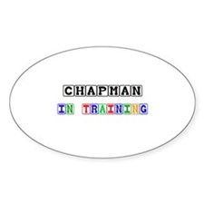 Chapman In Training Oval Decal
