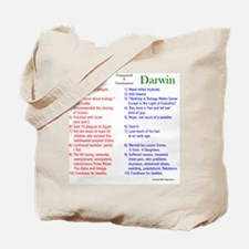God and Darwin Compared and contrasted Tote Bag