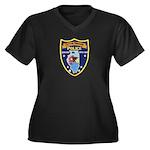 Oregon Illinois Police Women's Plus Size V-Neck Da