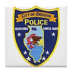 Oregon Illinois Police Tile Coaster