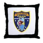 Oregon Illinois Police Throw Pillow