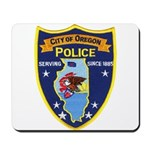 Oregon Illinois Police Mousepad