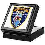 Oregon Illinois Police Keepsake Box