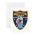 Oregon Illinois Police Greeting Cards (Pk of 10)