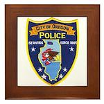 Oregon Illinois Police Framed Tile