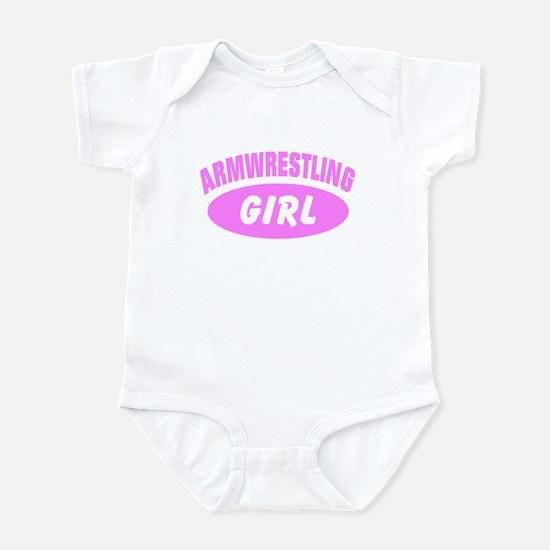 Armwrestling Girl Sports Infant Bodysuit