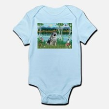 Birches/Keeshond Infant Bodysuit