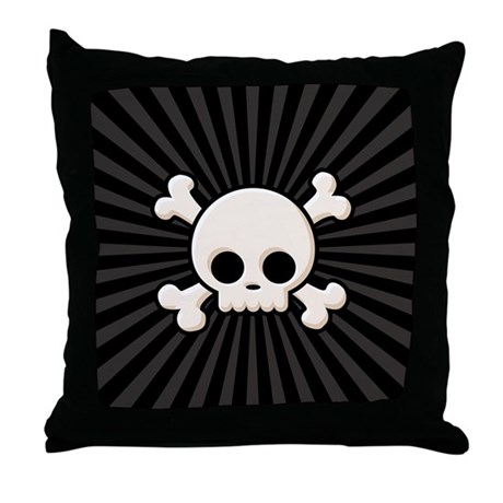 Cute Skull Throw Pillow
