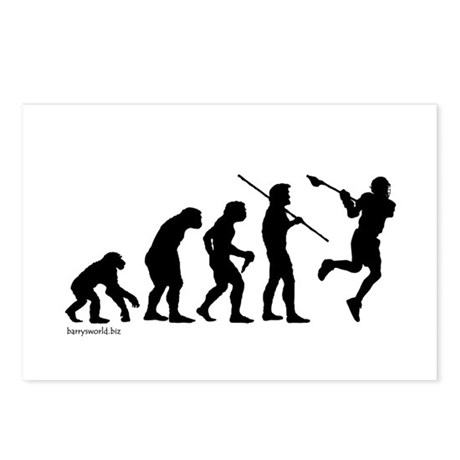 Lacrosse Evolution Postcards (Package of 8)