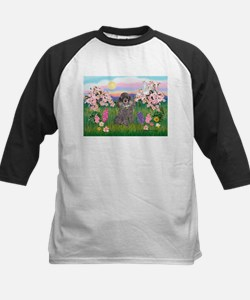 Blossoms/Poodle (silver) #8 Tee