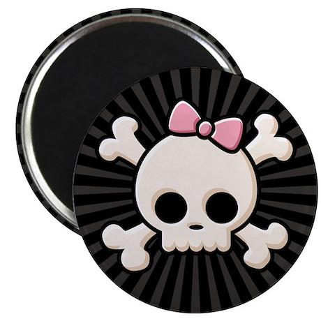 Cute Skull Girl Magnet