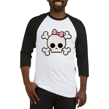 Cute Skull Girl Baseball Jersey