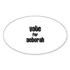 Vote for Deborah Oval Decal