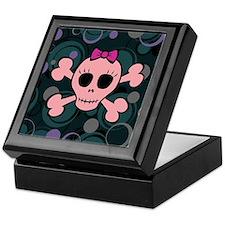 Funny Pink Skull Keepsake Box