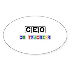 Ceo In Training Oval Decal
