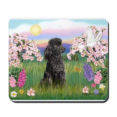 Blossoms/Poodle (miniature #2) Mousepad