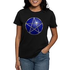 Gold on Blue Pentagram Tee