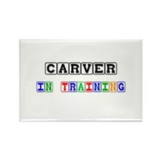 Carver In Training Rectangle Magnet