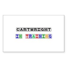 Cartwright In Training Rectangle Decal