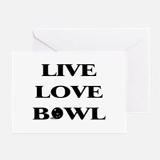 Live Love Bowl Greeting Card