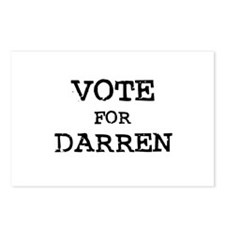 Vote for Darren Postcards (Package of 8)