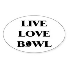 Live Love Bowl Oval Decal