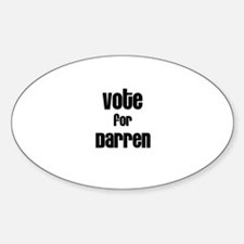 Vote for Darren Oval Decal