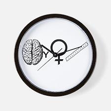 Brainy Girls Rule! Wall Clock