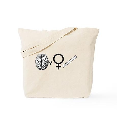 Brainy Girls Rule! Tote Bag