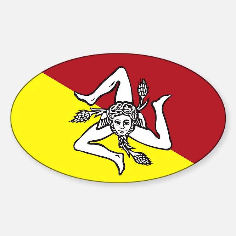 Sicilian trincera Oval Bumper Stickers
