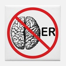 No Brainer Tile Coaster