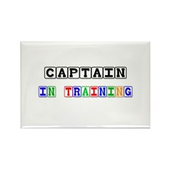 Captain In Training Rectangle Magnet