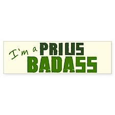 Badass Prius Bumper Bumper Sticker Bumper Bumper Sticker