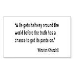 Churchill Lies Truth Quote Rectangle Sticker 10 p