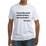 Churchill Lies Truth Quote (Front) Fitted T-Shirt