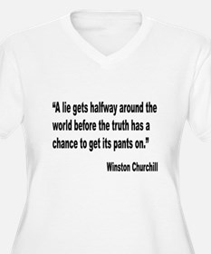 Churchill Lies Truth Quote T-Shirt