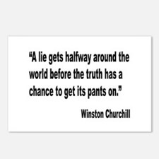 Churchill Lies Truth Quote Postcards (Package of 8