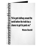 Churchill Lies Truth Quote Journal