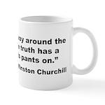 Churchill Lies Truth Quote Mug