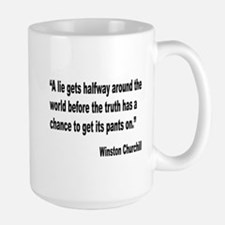 Churchill Lies Truth Quote Large Mug