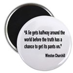 Churchill Lies Truth Quote Magnet