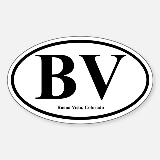 BV - Buena Vista, CO Oval Decal