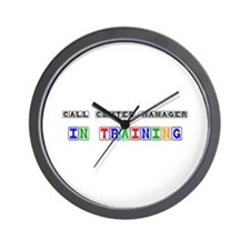 Call Center Manager In Training Wall Clock