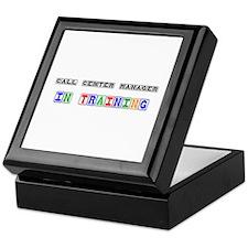 Call Center Manager In Training Keepsake Box