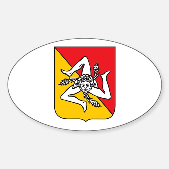 Sicilian Coat or Arms Oval Decal