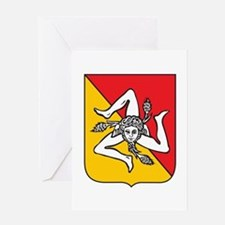 Sicilian Coat or Arms Greeting Card