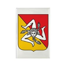 Sicilian Coat or Arms Rectangle Magnet