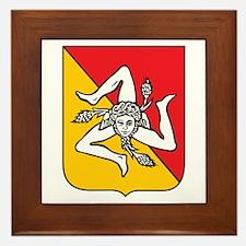 Sicilian Coat or Arms Framed Tile