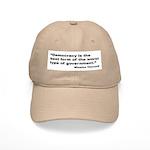 Churchill Democracy Quote Cap